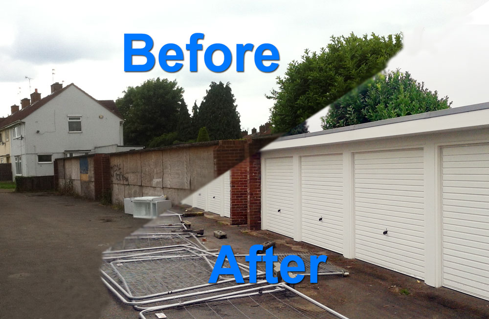 Garages Before and After