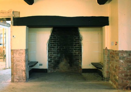 Alcott Hall fireplace